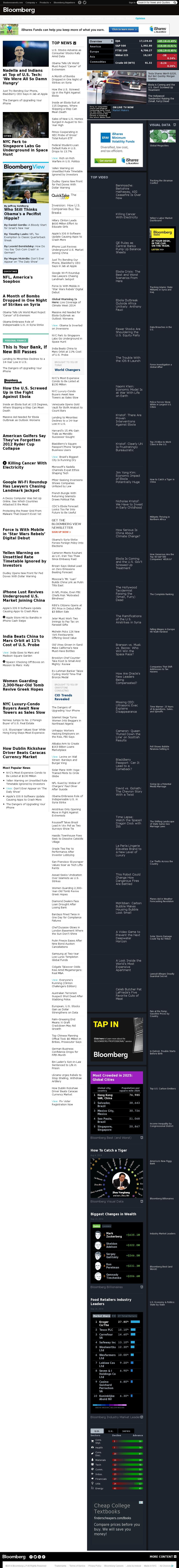 Bloomberg at Wednesday Sept. 24, 2014, 4 p.m. UTC