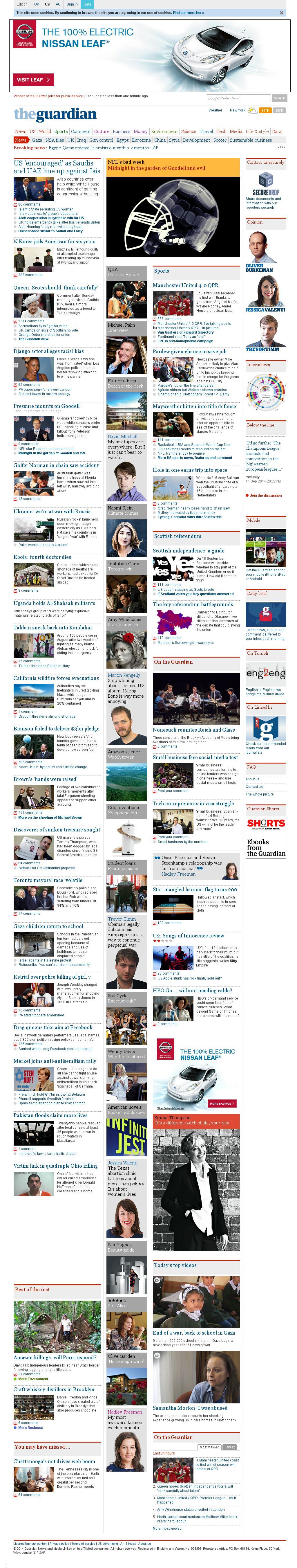 The Guardian at Sunday Sept. 14, 2014, 8:08 p.m. UTC