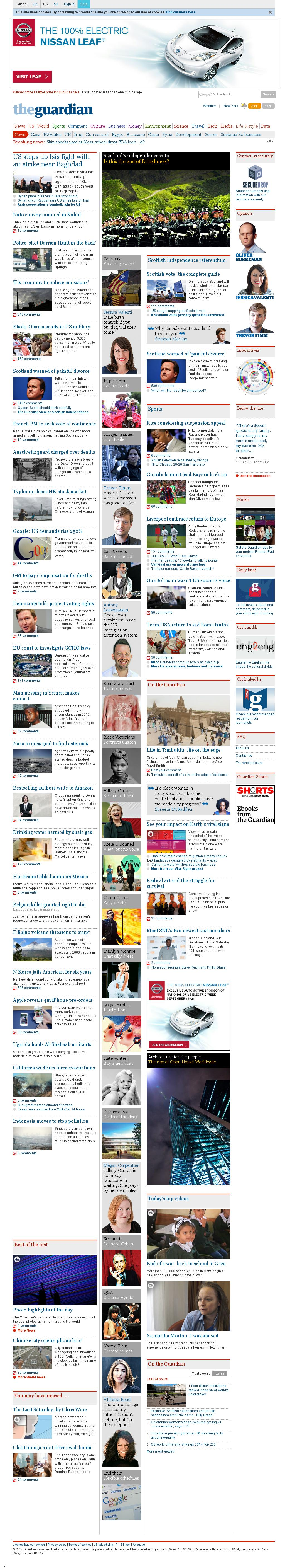 The Guardian at Tuesday Sept. 16, 2014, 12:06 p.m. UTC