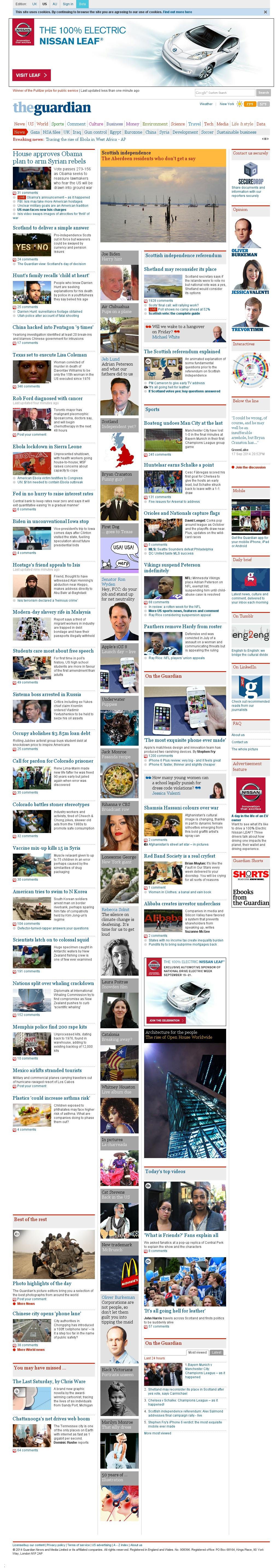 The Guardian at Wednesday Sept. 17, 2014, 10:08 p.m. UTC