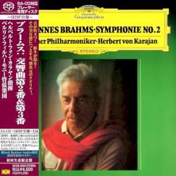 Symphonies Nos 2 & 3 [1977/8 recording] by Johannes Brahms ;   Herbert von Karajan  &   Berliner Philharmoniker