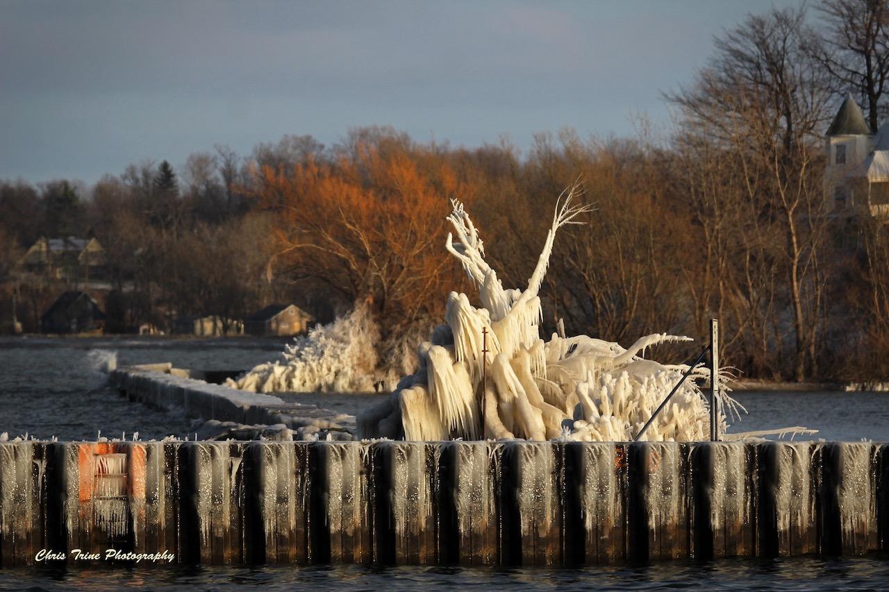 Ice sculptures along Lake Ontario (photo)