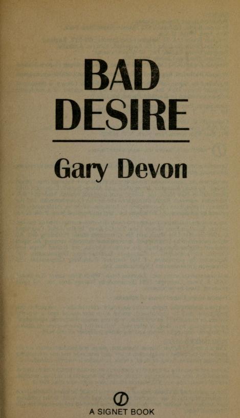 Bad desire by Gary Devon