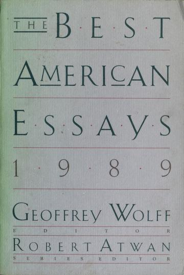 The Best American Essays, 1989 (Best American Essays) by Geoffrey Wolff