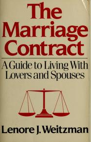Cover of: The Marriage Contract   Lenore J. Weitzman